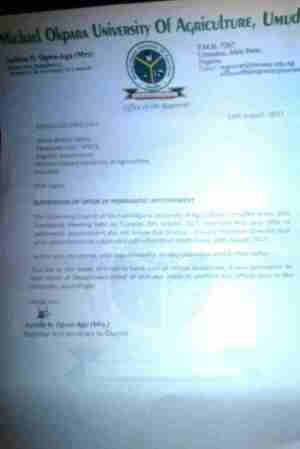 Michael Okpara University Of Agriculture, Umudike Sacks Additional 370 Staff (Pic)